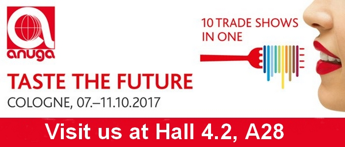 Visit us at ANUGA 2017 Hall 4.2, A28